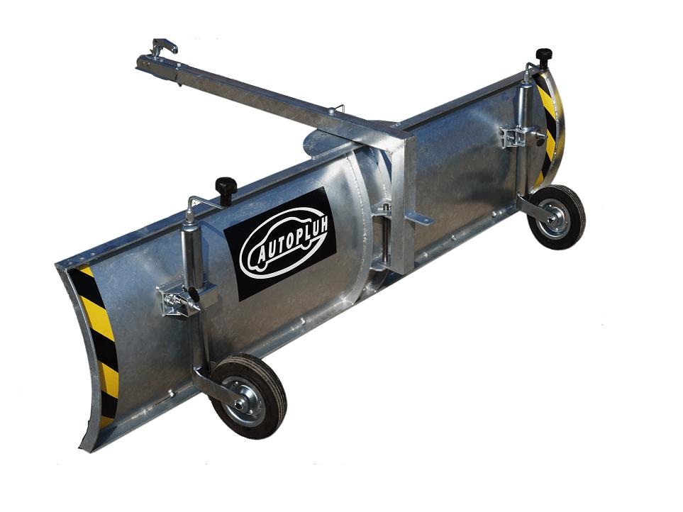 Autopluh pozinkovaný s kolieskami na rýchly, pohodlný odhrn snehu bez námahy